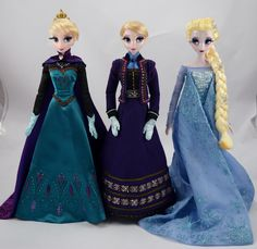 Limited Edition Elsa 17'' Dolls - 2013-2015 - Disney Store Purchases - Full Front View