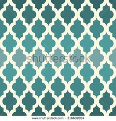 Moroccan seamless pattern. The emerald tones. Vector. - stock vector