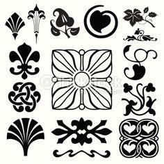 art nouveau design elements - Поиск в Google