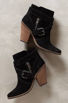 Dolce Vita Conary Booties - women's shoe (chic suede boots, black footwear fashion)