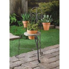 Engaging French Cafe Chair Planter