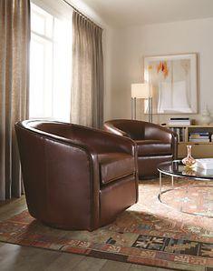 Amos Leather Swivel Chair