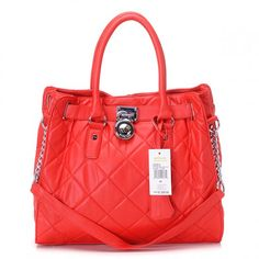 Michael Kors Hamilton Large Leather Red