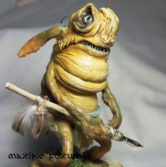 Goblin / Spiderwick / Faerie Sculpture by LaOubliette on Etsy Goblin Art, Goblin King, Spiderwick, Mini Monster, Fountain Pen Nibs, Hobgoblin, Fantasy Races, Ceramic Animals, Anatomy Drawing