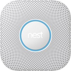Nest - Protect 2nd Generation Smart Smoke/Carbon Monoxide Wired Alarm - White, S3003LWES