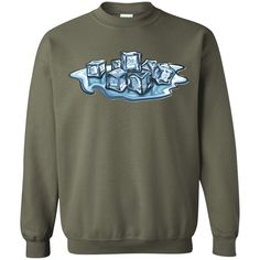 Ice Cubes, Men's Custom Crewneck Pullover Sweatshirt