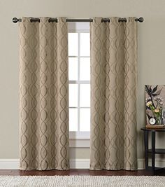 """HLC.ME Bryant Thermal Insulated Blackout Window Curtain Grommet Panels - Pair - 84"""" inch Long by HLC.ME, http://www.amazon.com/dp/B00L1HIWWE/ref=cm_sw_r_pi_dp_qv0bub0RCY1DZ"""