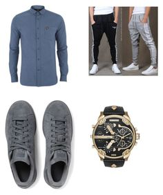"""""""Untitled #313"""" by thegirlinthereddress5042 on Polyvore featuring Lyle & Scott, adidas Originals, Diesel, mens, men, men's wear, mens wear, male, mens clothing and mens fashion"""