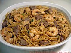 chow-mein shrimp noodles