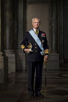 Carl XVI Gustaf, the King of Sweden, posing for a picture. Today is his… Portraits, Portrait Poses, Kingdom Of Sweden, Swedish Royalty, Prince Carl Philip, Queen Silvia, Neil Armstrong, Head Of State, Crown Princess Victoria