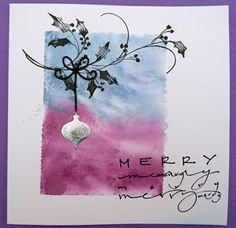 Use penny black holly berry die and ornament stamp or die