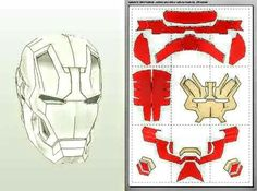 JFcustom's FOAM files - Cold Foam for prosthetic work? Suggestions from the experts? It will work for a head piece, not rea - Iron Man Cosplay, Cosplay Armor, Cosplay Diy, 3d Paper Crafts, Paper Toys, Paper Art, Iron Man Helmet, Iron Man Armor, Iron Men