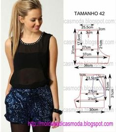 Fashion molds for Measure Sewing Shorts, Diy Shorts, Sewing Clothes, Sewing Patterns Free, Sewing Tutorials, Clothing Patterns, Dress Patterns, Creation Couture, Diy Fashion
