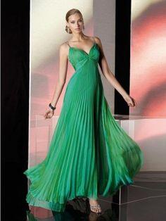 Kleid lang grun chiffon