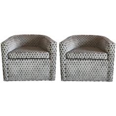Custom Swivel Chairs Set
