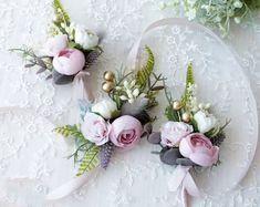 Wedding Flower Crowns and Bridal Headpieces от LisaUaShop на Etsy Bridesmaid Corsage, Bridesmaid Flowers, Bridal Flowers, Fuchsia Flower, Burgundy Flowers, Flower Girl Crown, Flower Crowns, Floral Crown Wedding, Corsage And Boutonniere