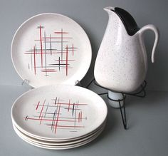 Salem China Constellation in Jackstraw Red.