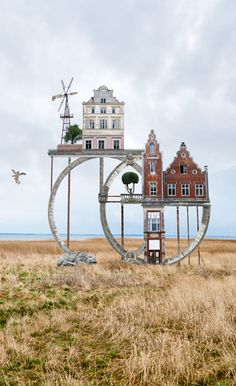 "HOUSES ""Architectural Short Poems"" by Matthias Jung, a German artist who creates photo collages of various, unrelated houses, juxtaposing them into new, imaginary architectural compositions. No photoshop is used in this technique, and all the photographs were taken by Jung himself, many during trips to northeastern Germany. Collages always fascinated Jung ever since he was a child. He says ""it all began with scissors & glue"", and basically he ""doesn't do anything differently nowadays"""