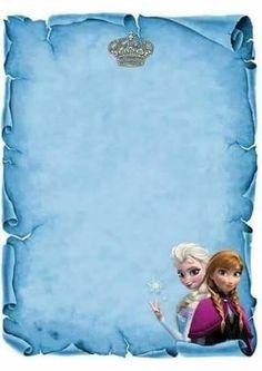 Resultado de imagem para convite frozen-frozen pergaminho molde para criar