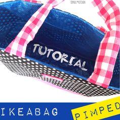 #Ikeatasche pimpen mit Anleitung und Schnitt #tutorial #ikeabag
