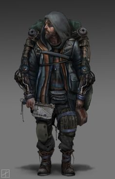 Post Apocalyptic character design by d-torres on DeviantArt Post Apocalypse, Apocalypse Survivor, Apocalypse World, Character Concept, Character Art, Character Design, Artwork Cd, Zombies, Cat Anime