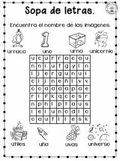 Cuadernillo para-primer-grado Teaching Spanish, Center Ideas, Word Search, Homeschool, Writing Activities, Preschool Reading Activities, Reading Binder, Reading Comprehension, Kids Writing
