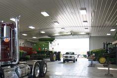 Morton Buildings farm shop interior in Freeland, Michigan.