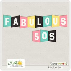 FREE Fabulous 50′s Alpha by Chelle's Creations | Scrap Orchard