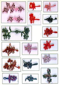 漂亮的旗袍盘扣 - 倾城网 Macrame Patterns, Sewing Patterns, Chinese Fabric, Chinese Crafts, Diy And Crafts, Paper Crafts, Fancy Buttons, Chinese Clothing, Button Flowers