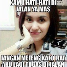 Gambar DP BBM Meme Polwan Cantik 8