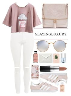 """""""◇PINK PARADISE◇"""" by tamsy13 on Polyvore featuring Topshop, adidas, Ray-Ban, MAC Cosmetics, Bobbi Brown Cosmetics, Korres and Nails Inc."""