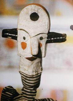 Big-Eared Clown puppet (detail) by Paul Klee, 1925.