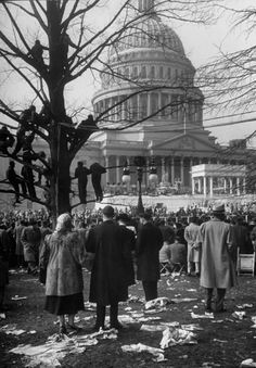 <b>Not originally published in LIFE.</b> Dwight Eisenhower's inauguration, 1953.