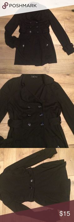 BCX Jacket Black jacket 75% polyester 22% Rayon 3% spandex light weight front buttons side pocket BCX Jackets & Coats
