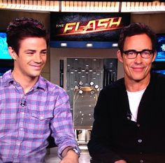 theaistenes: Grooming on Grant Gustin and Tom Cavanagh doing press for 'The Flash' on CW using oribe tomford @xclusiveartists #grantgustin #tomcavanagh #mensgrooming #theflash #cw #lovemyjob