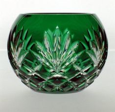 Cased colored votive made of finest quality lead crystal. Available in cobalt blue, emerald green and gold amber colors. Excellent home accent. - Clarine Votive