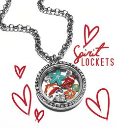 Show some #Love with a Spirit Locket #Tropical #Fish #Starfish #Red