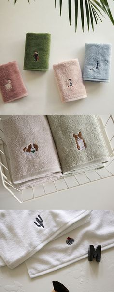 Meet Daily Towel Set! Making your daily used towels interesting with many adorable characters!