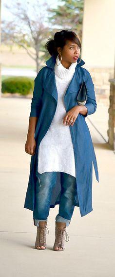 Fall, Denim, Sweater, Outfit Idea, Boyfriend Jeans, Booties