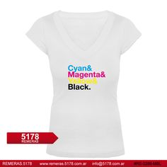 Remera RE 0286 MBL Cyan magenta yellow black | 5178