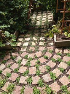 Image result for permaculture brick landscape