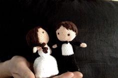 Amigurumi bride and groom: How to DIY Crochet Wedding, Diy Wedding, Wedding Day, Crochet Toys, Knit Crochet, Doll Clothes, Groom, Bride, Knitting