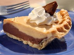 Chocolate Peanut Butter Pie ... Use STORE bought Crust if you don't do your own. Click to see recipe.
