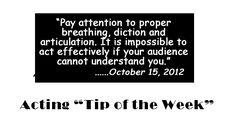Acting tip