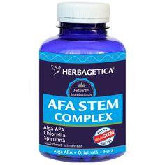 Afa Stem Complex contine 3 alge verzi-albastre (Alga AFA, Spirulina si Chlorella) cu efecte exceptionale in stimularea productiei de Celule Stem in organism si regenerarea acestuia.