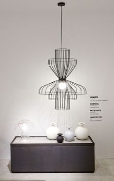 The modular Parachute Suspension lamp by Nathan Yong for Ligne Roset. Maison & Objet 2014