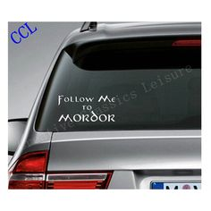 MORDOR LORD OF THE RINGS FUNNY SPOOF  DECAL STICKER VINYL WALL LAPTOP CAR 5/""
