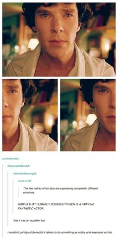 Benedict Cumberbatch and his duo-emotioned face