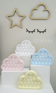 Luminária nuvem. #baby #gkids #nursery #candycolors #decoração #light #sun #clouds #nuvens #babyroomdecor #