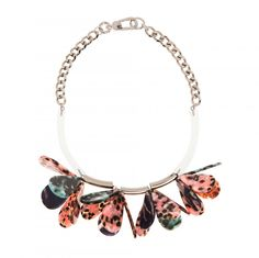 BIMBA Y LOLA RESIN AND ACETATE NECKLACE